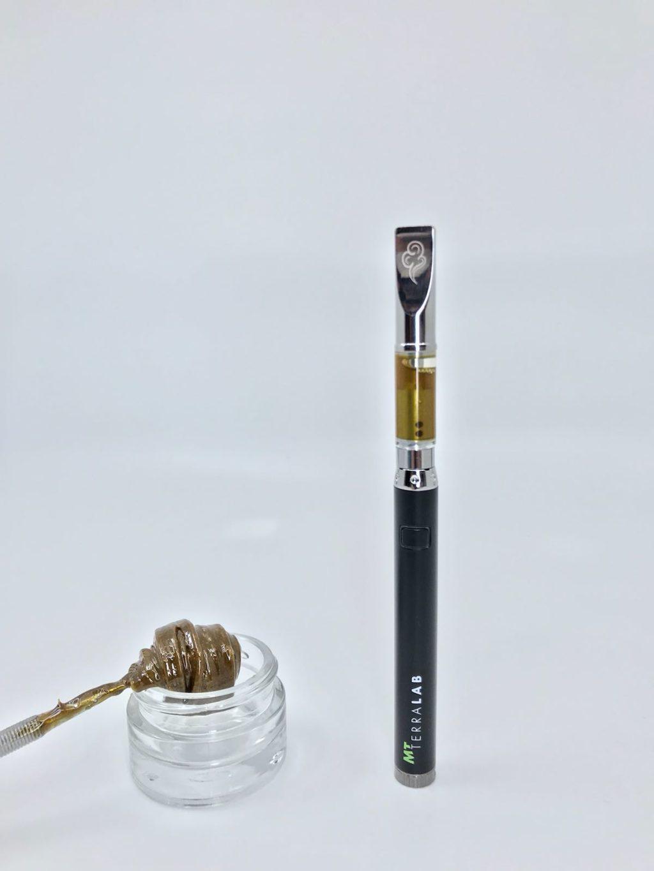 Vape Pen CBD avec rosine de fleurs de cannabis par MT Terralab. Vape pen CBD - MT Vapes kit